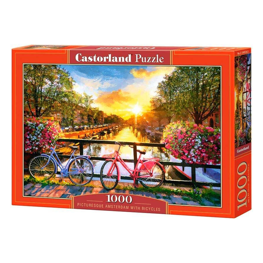 Cuy Games - 1000 PIEZAS - PICTURESQUE AMSTERDAM WITH BICYCLES -