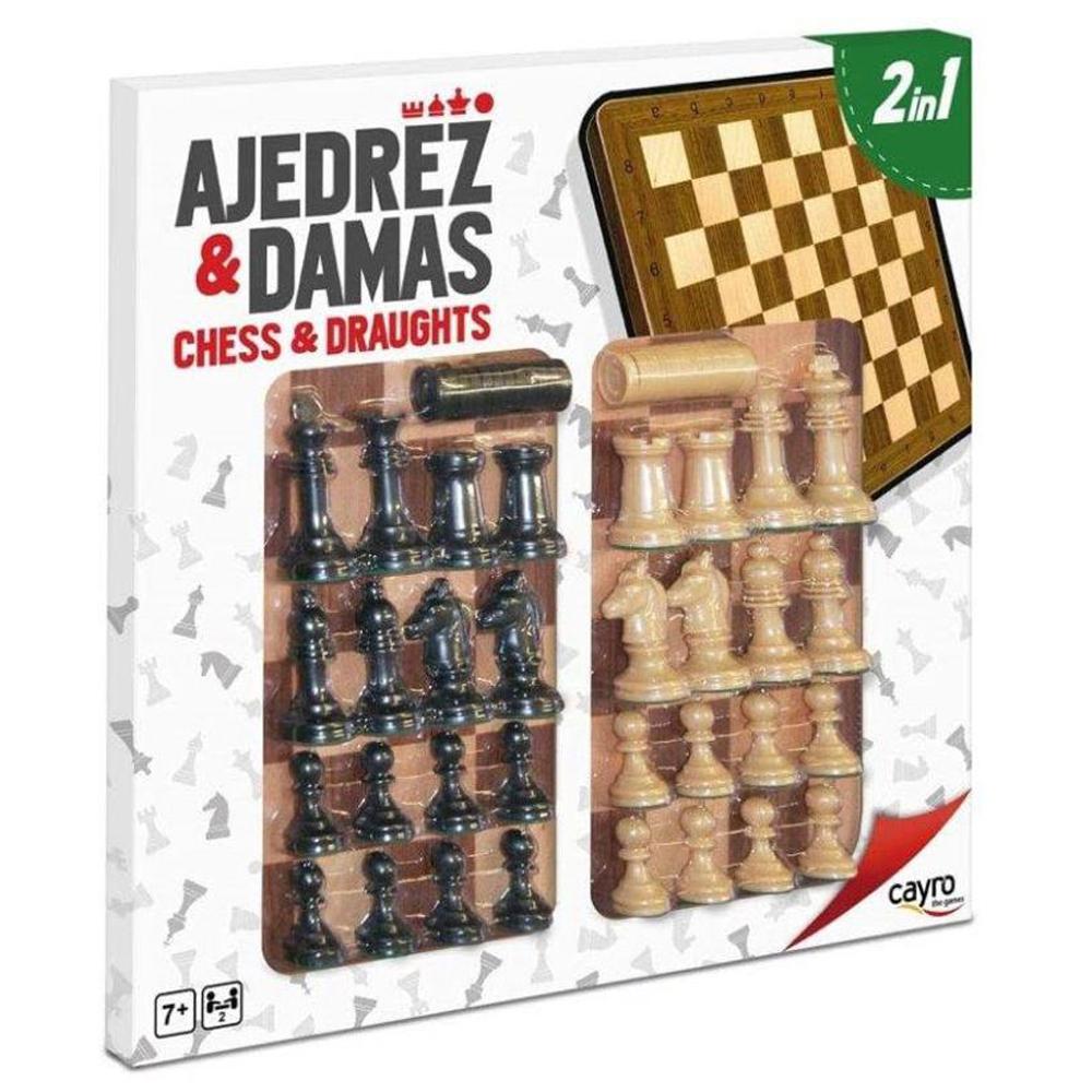 Cuy Games - AJEDREZ Y DAMAS 2 IN 1 -