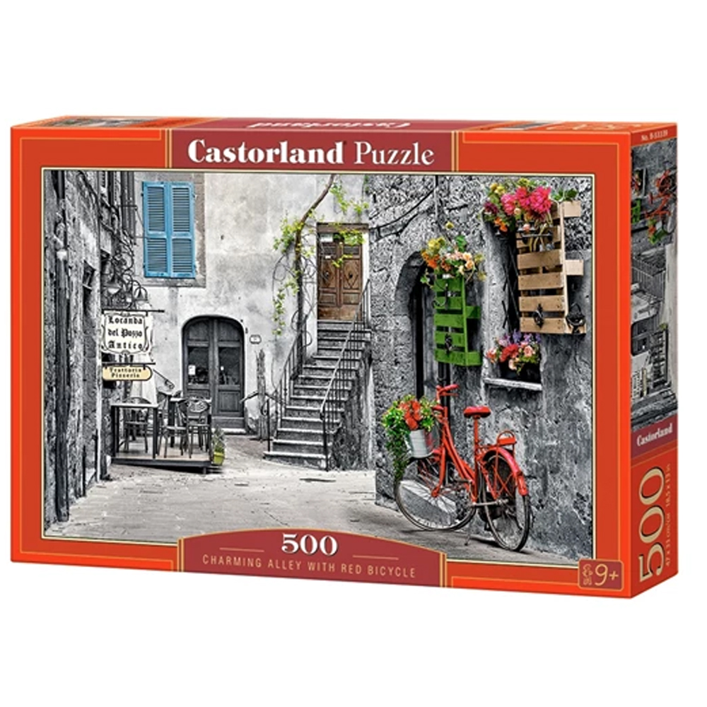 Cuy Games - 500 PIEZAS - CHARMING ALLEY WITH RED BICYCLE -