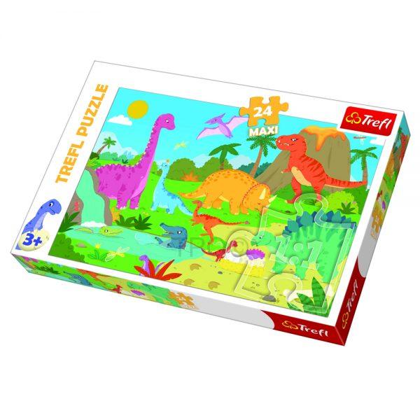 Cuy Games - INFANTIL - MAXI 24 PIEZAS - MUNDO DINOSAURIOS -