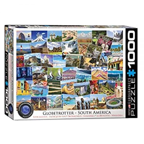 Cuy Games - 1000 PIEZAS - SOUTH AMERICA GLOBETROTTER -