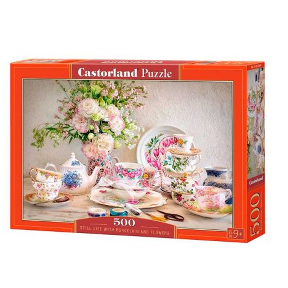 Cuy Games - 500 PIEZAS - STILL LIFE WITH PORCELAIN AND FLOWER -