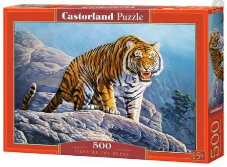Cuy Games - 500 PIEZAS - TIGER ON THE ROCKS -