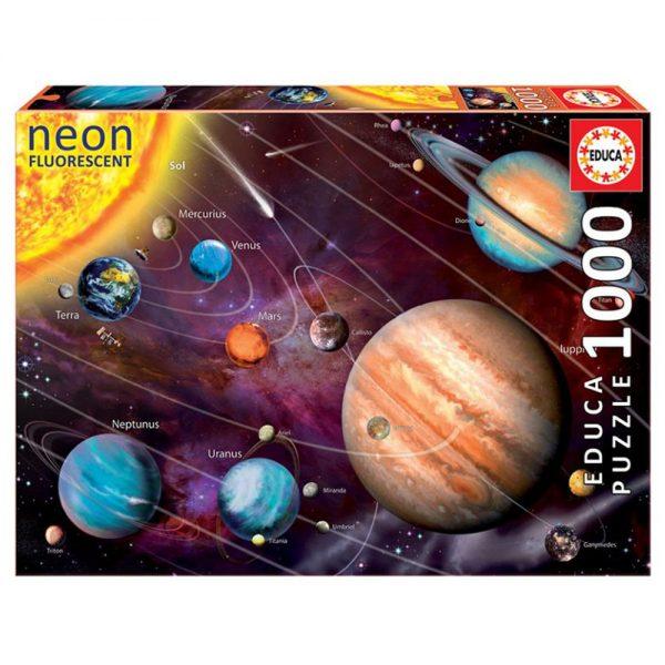 Cuy Games - 1000 PIEZAS - SISTEMA SOLAR (NEON) -