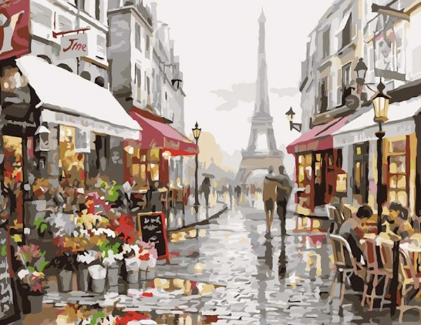Cuy Games - CUADRO PINTURA AL OLEO -ROMANCE EN PARIS 40X50 -